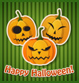 halloween holiday greeting poster vector image vector image