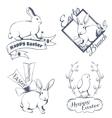 Happy easter logo vector image