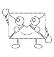 happy message envelope kawaii icon image vector image vector image