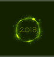 happy new year 2018 holiday background2018 happy vector image