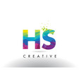 hs h s colorful letter origami triangles design vector image vector image