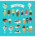 Ice cream icons isolated vector image vector image
