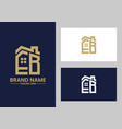initial letter e and b with roreal estate vector image vector image