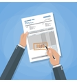 invoice sign up vector image vector image