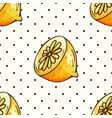 lemon pattern with polka dots vector image vector image