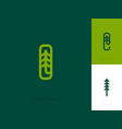 line logo template or icon with fir tree and vector image