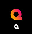 logo q pink yellow vector image