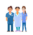 Medical team Group of hospital workers vector image