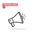 megaphone icon white background imag vector image