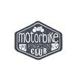 Motorbike Club Vintage Plate vector image vector image