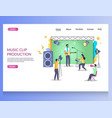 music clip production website landing page vector image vector image