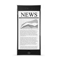 news on phone display vector image