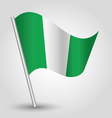 Nigerian flag on pole