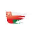 oman flag on a white vector image