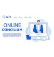 online doctor concilium video conference webpage vector image vector image