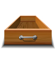 Opened wood drawer vector image vector image