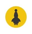 Penguine silhouette icon vector image vector image
