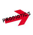 probiotics rubber stamp vector image