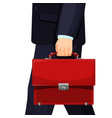 realistic picture man with budget briefcase vector image