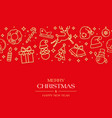 red christmas card or horizontal banner vector image