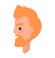 redhead male character in profile vector image vector image