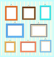 retro picture image cartoon frames set vector image vector image