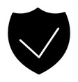 security shield silhouette icon 48x48 vector image vector image