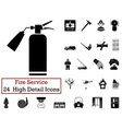 Set of 24 Fire service Icon vector image vector image