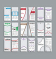 set of white flyers format 210x99 mm vector image vector image