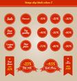 set vintage shop labels - sales volume 2 vector image