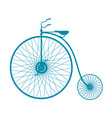 silhouette of vintage bicycle in blue design vector image vector image