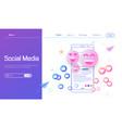 social media modern flat design concept vector image