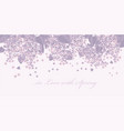 tender spring lilac blossom twigs for card header vector image vector image