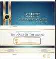 voucher gift certificate coupon blue layout vector image