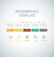 Web Infographic Timeline Arrows Template Layout vector image vector image