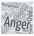Why Children may Benefit from Anger Management vector image vector image