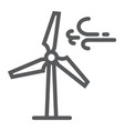 wind turbine line icon ecology and energy vector image vector image