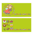 set easter cards with icon vector image