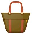 A brown handbag vector image vector image