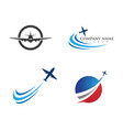 airplane icon design vector image vector image
