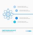 atom nuclear molecule chemistry science vector image
