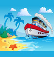 beach theme scenery 5 vector image