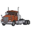 Big american towing truck vector image