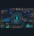 bitcoin with hud elements btc bit coin virtual vector image vector image