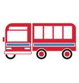 bus simple art geometric vector image vector image