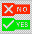check marks yes and no vector image