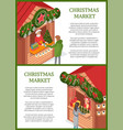 christmas holidays celebration people at market vector image