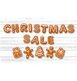 christmas sale poster text made gingerbreade vector image vector image