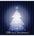 Christmas tree greeting card design vector image vector image