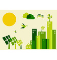 City sustainable development concept vector image vector image